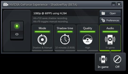 Shadowplay software