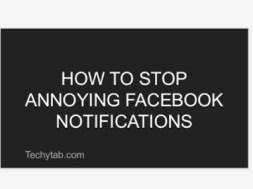 stop facebook notifications