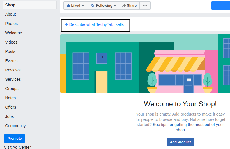 facebook store