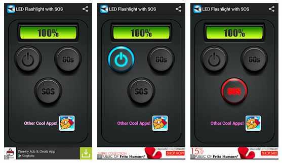 LED Flashlight HD + SOS