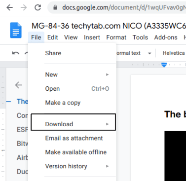download from google docs