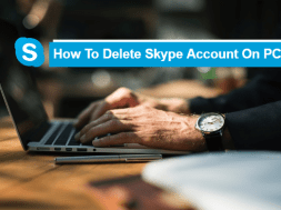 how to delete skype account on PC