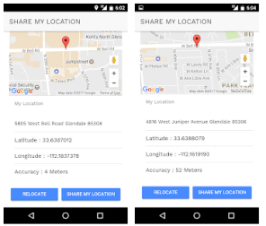 Share Location Android