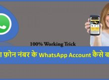 Create WhatsApp Account Without Phone Number