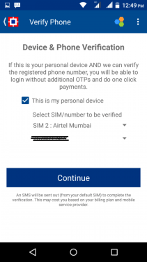 Payzapp device verification