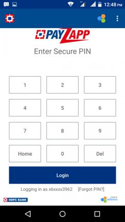 Enter Security PIN