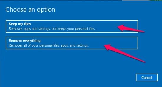Windows Laptop Ko Kaise Reset Kare step 4