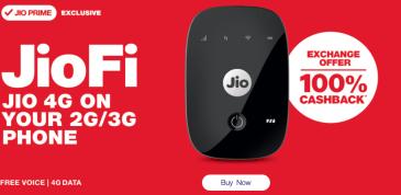JioFi 4G HotSpot 100% Cashback Offer | JioFi HotSpot 4G Dongle JIO SIM Ke Sath Free