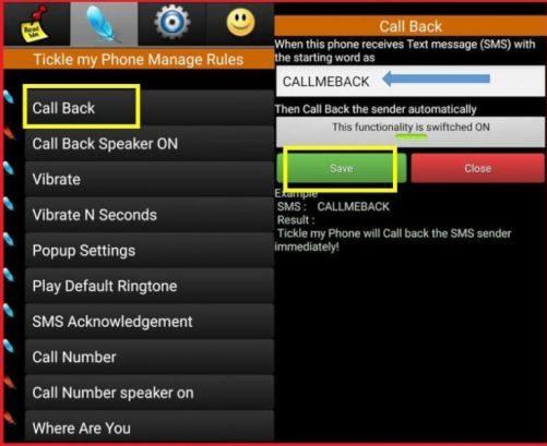 Setup Call Back Feature