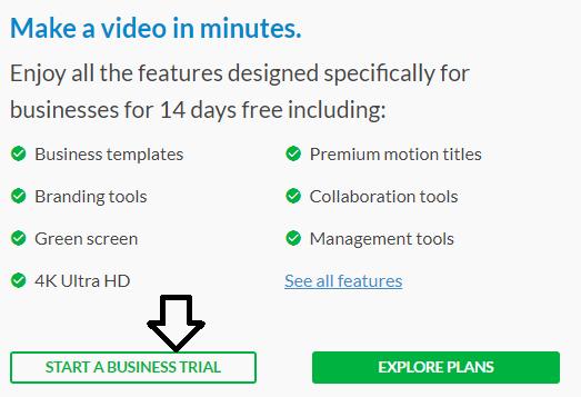 start trial video editing