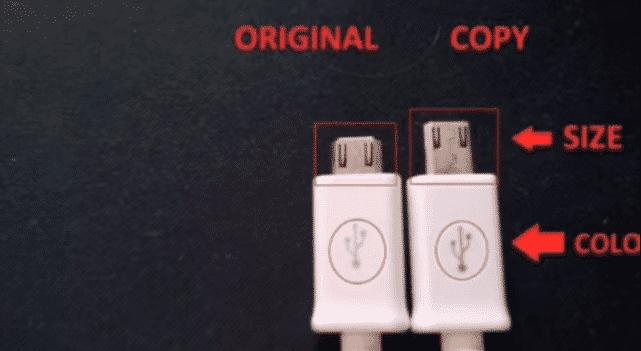 samsung original charger vs fake charger