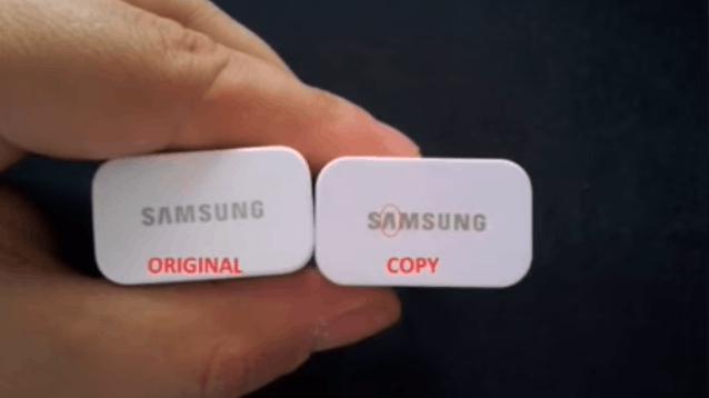 original vs fake samsung charger