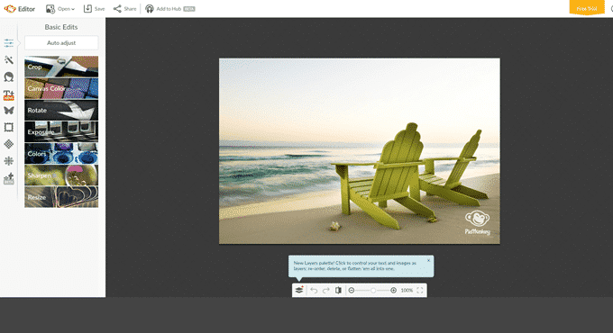 free photo editing software online