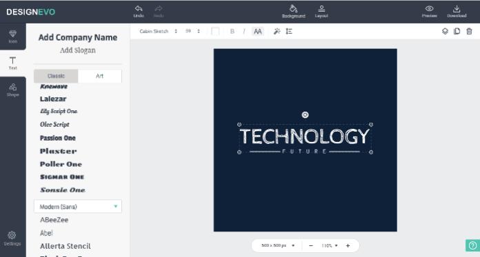 Make Free Logo Online