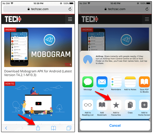 How to Add Favorites in Safari for iPhone and iPad