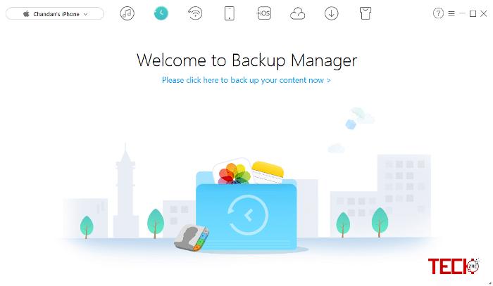 iMobie AnyTrans Backup Manager