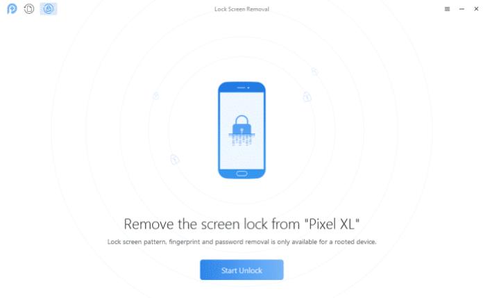 PhoneRescue Lock Screen Removal