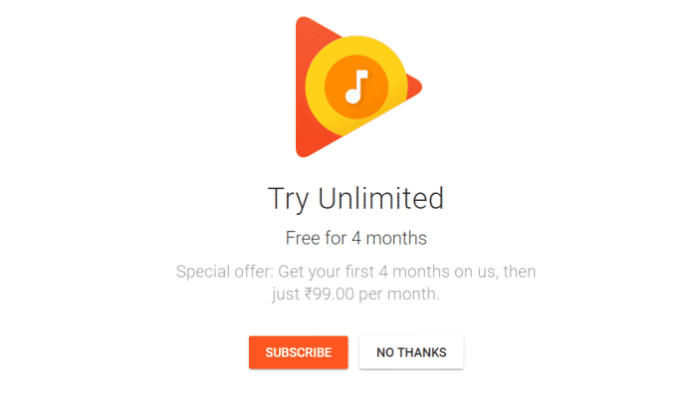 Google Play Music and YouTube Red Free