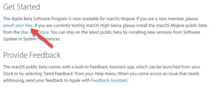 Download macOS Mojave Public Beta