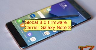 global 8.0 firmware for carrier Galaxy Note 8