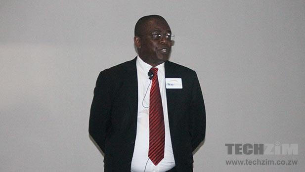 iWayAfrica CEO Nyagura presenting new enterprise solutions from iWayAfrica