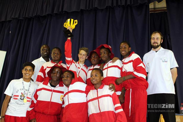 The Dragons, winners of FIRST LEGO League Zimbabwe 2014