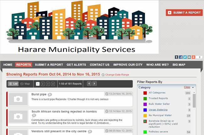 City of Harare, Ushahidi