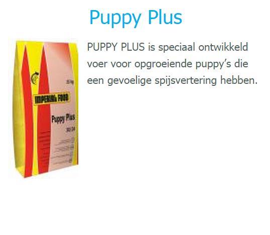 De puppy brok voor pups van af 7 weken. 63,50 euro / 15 kilo
