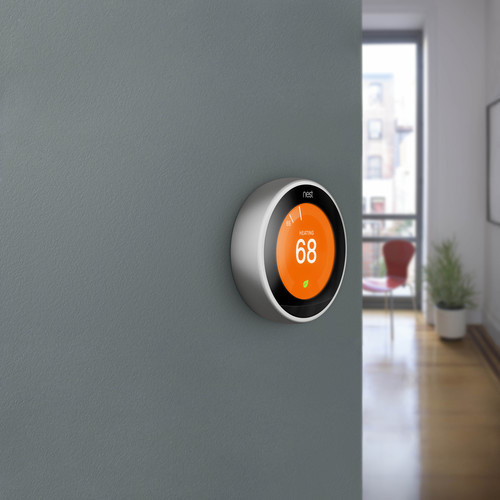 Google Nest Learning Smart Wi-Fi Thermostat - Stainless Steel   Teck Galaxy
