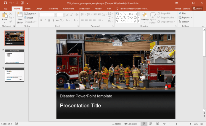Slidehunter shows how using powerpoint templates is good for free disaster powerpoint template toneelgroepblik Choice Image