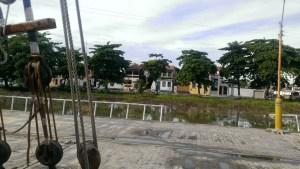 Tecla alongside in Caravelas