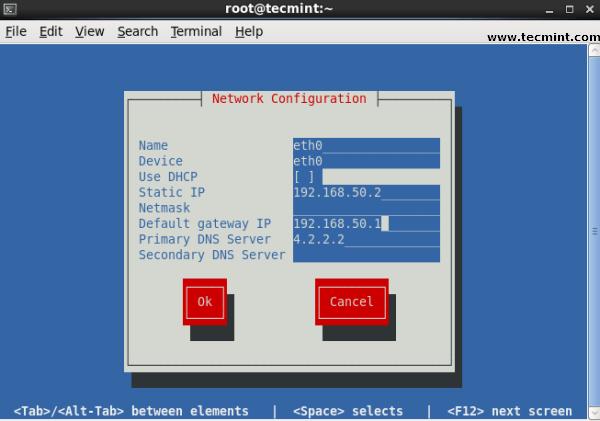 Linux GUI Network Configuration