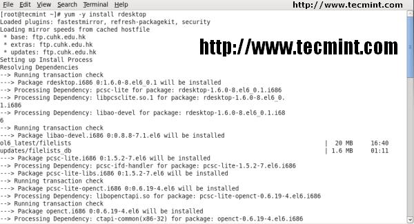 check rdesktop in Linux