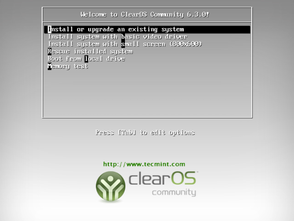 ClearOS 6.3 Install