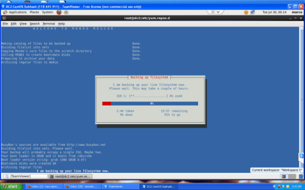 Sistema de arquivos de backup Mondo Rescue