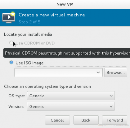 CD DVD Not Supported in KVM
