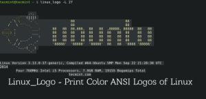 Linux_Logo - Prints Color ANSI Logs of Linux Distro