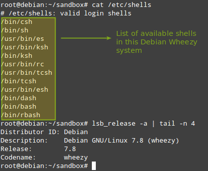 Check Shell and Debian OS Version