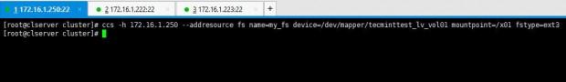 Add Filesystem to Cluster
