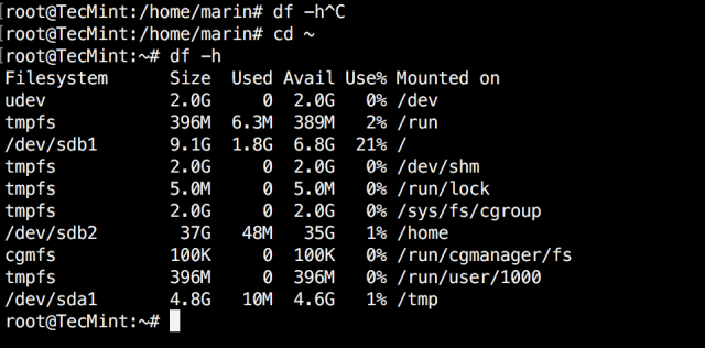 Disk Partition Table Before