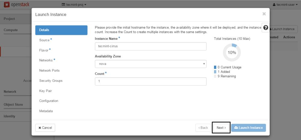 OpenStack Örneğine Ana Bilgisayar Adı Ekleme