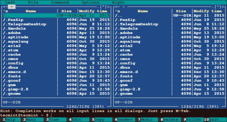 Midnight Commander - Commandline File Manager
