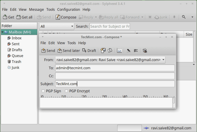 Sylpheed Email Client for Linux