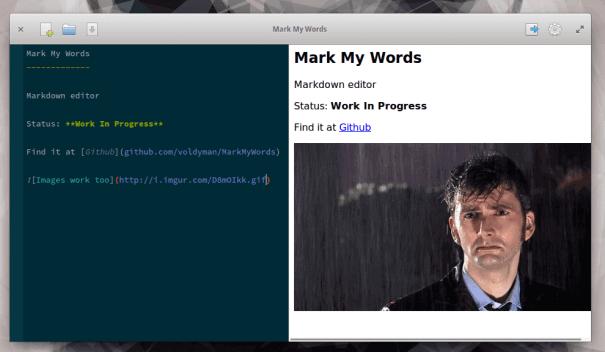 Editor de Markdown do MarkMyWords para Linux