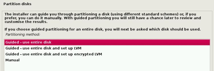Select Kali Linux Installation Type
