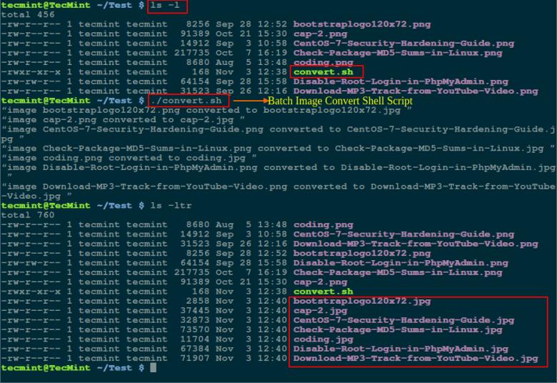 Batch Image Convert Using Shell Script