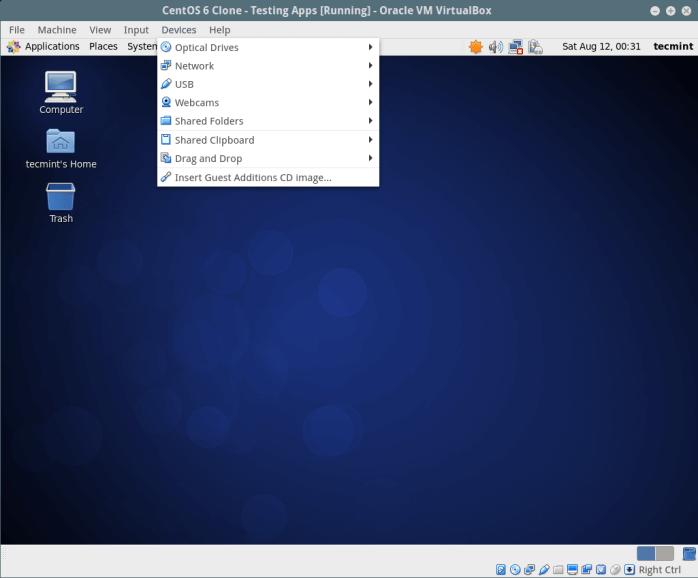 Mount Guest Additions ISO on CentOS