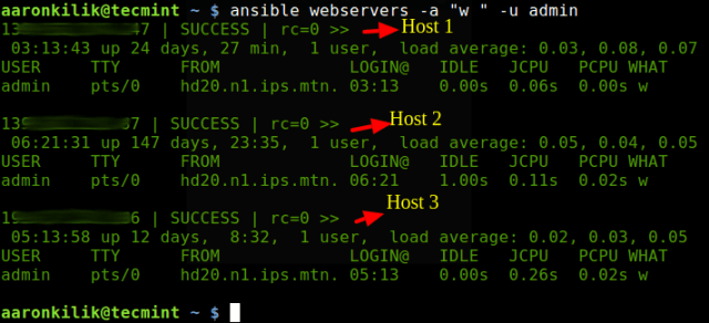 Ansible - Run Command on Multiple Linux Servers