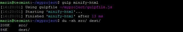 Minify HTML Files