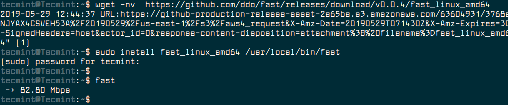 Install Fast.com Tool in Linux